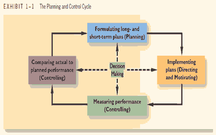 the planning and control cycle