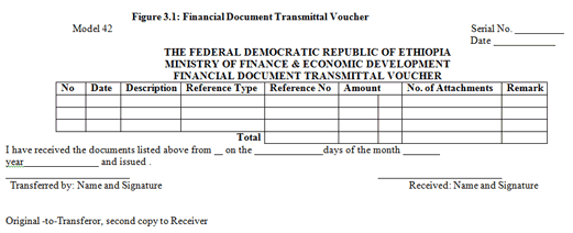 financial document transmittal voucher