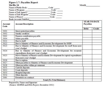 payable report
