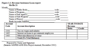 revenue assistant loan report