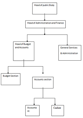 structure of financial administration with public bodies